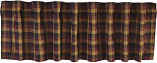 VHC Brands Primitive Kitchen Window Curtains-Heritage Farms Valance, 16x60, Deep Burgundy Red