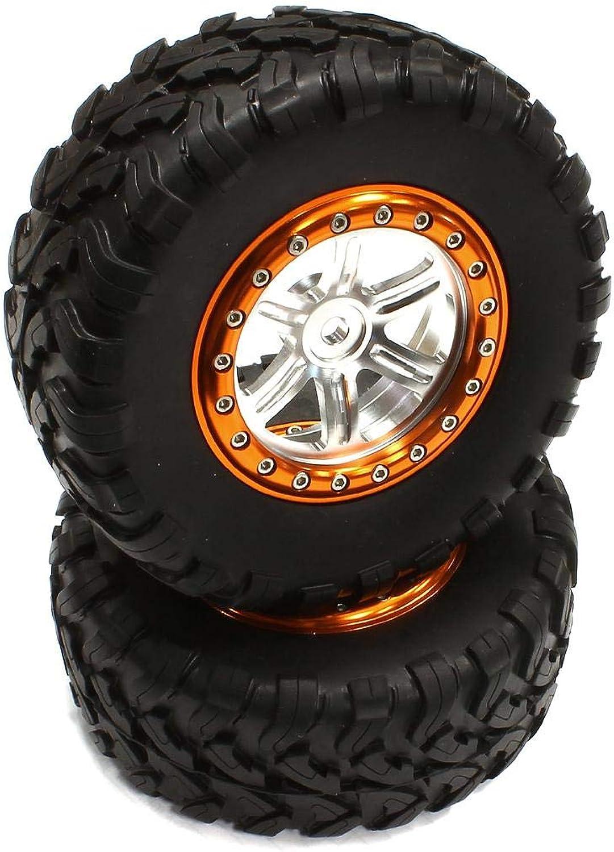 tienda de venta INTEGY RC Model Hop-ups T8550naranja Type I I I Alloy Beadlock Wheel & Tire (2) for 1 10 Slash 2WD, 4X4 (O.D.=94mm)  compra en línea hoy