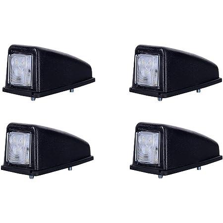4 X 3 Smd Led Weiß Dachleuchte Begrenzungsleuchte Seitenleuchte 12v 24v Mit E Prüfzeichen Positionsleuchte Auto Lkw Pkw Kfz Lampe Leuchte Licht Front Auto