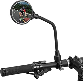 2PC Bicycle Safety Mirror Cycling Bike Handlebar Flexible Back Rear View P/&T