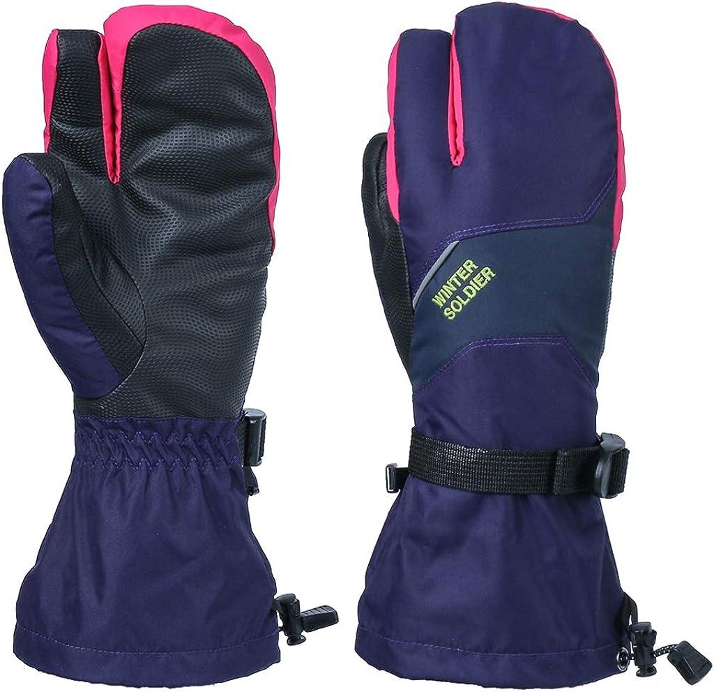 Zeraty Ski Gloves Men Winter Mittens Touchscreen Waterproof Warm Thermal Gloves Outdoor Sport Unisex