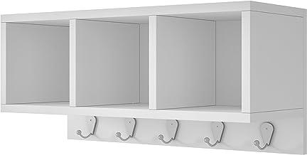 BRV Móveis MDP 15mm/Metal Hooks/Melamine Finishing Shelf, BPL 26-06, White, H25 x W20.5 x D53.5 cm