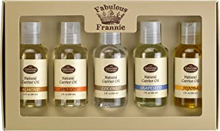 Carrier Oil 5 Pack #1- All Natural ingredients - This Kit Includes Almond, Apricot, Coconut, Grapeseed, and Jojoba Carrier Oils
