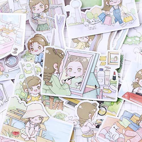 23 unids/Pack Nuevo Lovely Cartoon Simple Life Girl Etiqueta de Papel Diario Etiqueta Pegatinas DIY Scrapbooking Sticker Classic Toys Gift