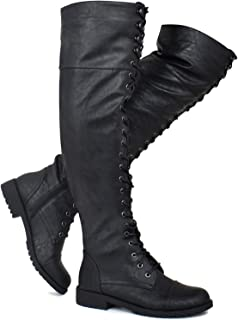 5feb6f6a5798 Premier Standard - Women's Fashion Comfy Vegan Suede Side Zipper Over Knee  High Boots