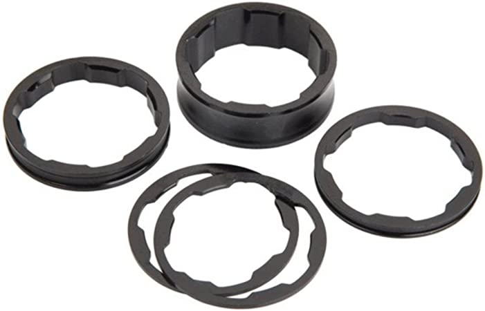 """Box Components One Stem Spacers Kit 1/"""" Black"""