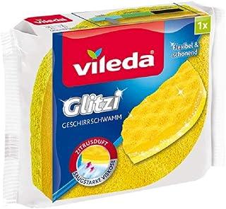Vileda Glitzi gąbka do naczyń o zapachu cytrusowym do delikatnego czyszczenia naczyń