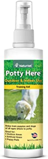 NaturVet – Potty Here Training Aid Spray – Attractive Scent Helps Train Puppies & Dogs Where to Potty – Formulated for Indoor & Outdoor Use