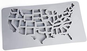 Gummy Molds by Abigail and Grey - USA Map 43 States Silicone Candy Molds and Gummy Candy Maker - USA Ice Cube and Silicone...