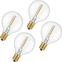 Avoalre reservelampen voor LED lichtketting G40 buitenlichtketting, 1W met snoerlamp E12 fitting, warm wit IP65 220-240V g...