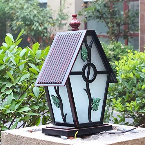 HLR Paalverlichting voor buitenshuis Villa Post lampen buiten tuin lamp tuin gazon sokkellamp E27 Villa buitenverlichting