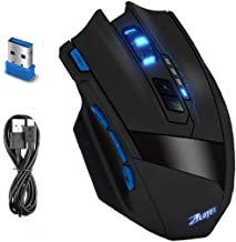Zelotes F15 2.4G Professional Wireless Gaming Mouse with USB Receiver,4 Adjustable DPI Levels, 9 Buttons Mice for Notebook,PC,Mac,Laptop,Computer,Macbook (Black)