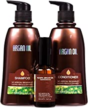 Argan Oil From Morocco Sulphate Free Shampoo (350ml), Conditioner (350ml) and Treatment Oil (50ml) Trio Pack