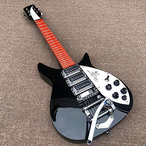 YYYSHOPP Guitars & Gear Guitarra eléctrica negra Pintura de tamaño corto Guitarra eléctrica...