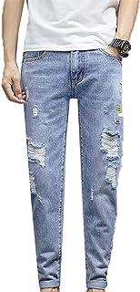 Generic11 Jeans Casual da Uomo Pantaloni Slim per Pantaloni Corti in Denim Larghi Resistenti allo sbiadimento Multi Stagione