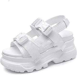 MEIZOKEN Women's Chunky Platform Sandals Summer Open Toe Wedges Casual Double Strap Sport Sandals