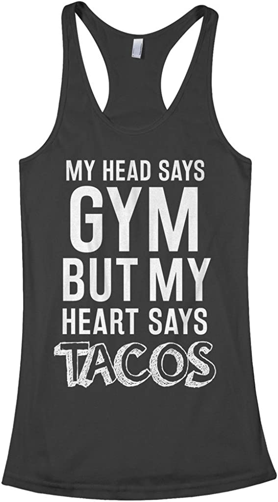 Threadrock Women's Head Says Gym Racerback Tacos Animer and price wholesale revision But Heart