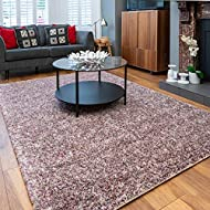 Purple Heather Warm Thick Shaggy Area Rug Mottled Speckled Fluffy Living Room Lounge Sunroom Conserv...