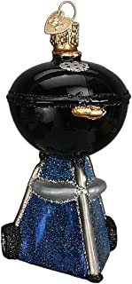 Old World Christmas Glass Blown Ornament with S-Hook and Gift Box, Outside Collection (Classic Barbecue [Black])