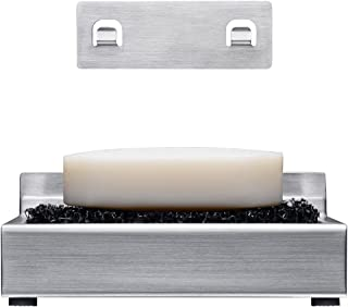 KONE Stainless Steel Soap Holder&Removable Shower Soap Dish Adhesive on Wall