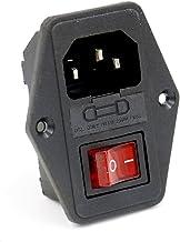 Baomain Power Source Socket Ket-3016, 5 X 20Mm Fuse Holder, Dpst On-Off Red Rocker Switch 250V 10A Ce