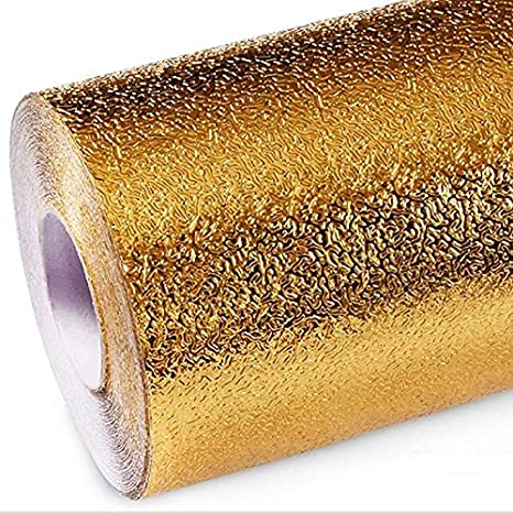 Amazon Com 10 Roll Waterproof Oil Proof Aluminum Foil Self Adhesive Wall Sticker Rainqueen 61x100cm Aluminum Foil Oil Proof Waterproof Wall Sticker Kitchen Stove Cabinet Stickers Self Adhesive Wallpaper Roll Kitchen Dining