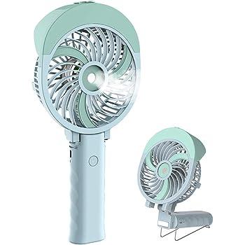 HandFan Ventilateur Brumisateur Main Ventilateur d'Atomisation Portatif Ventilateur Pliable USB Rechargeable Pliable Brumisateur Refroidisseur pour