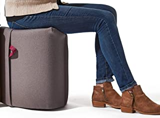 Turnstone by Steelcase Campfire Pouf-Sharkskin, Black Handle Collaborative Seating