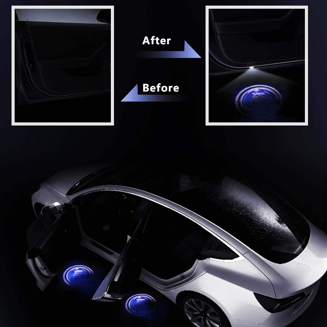 Car Door Lights for Acura LED Car Door Logo HD Welcome Light for Acura Series Car Ground Lights 2 PCS