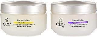 Olay Natural White Day Cream + Night Cream, 50 g