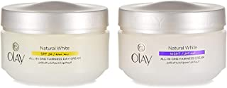 Olay Natural White Day Cream + Night Cream, 50 g