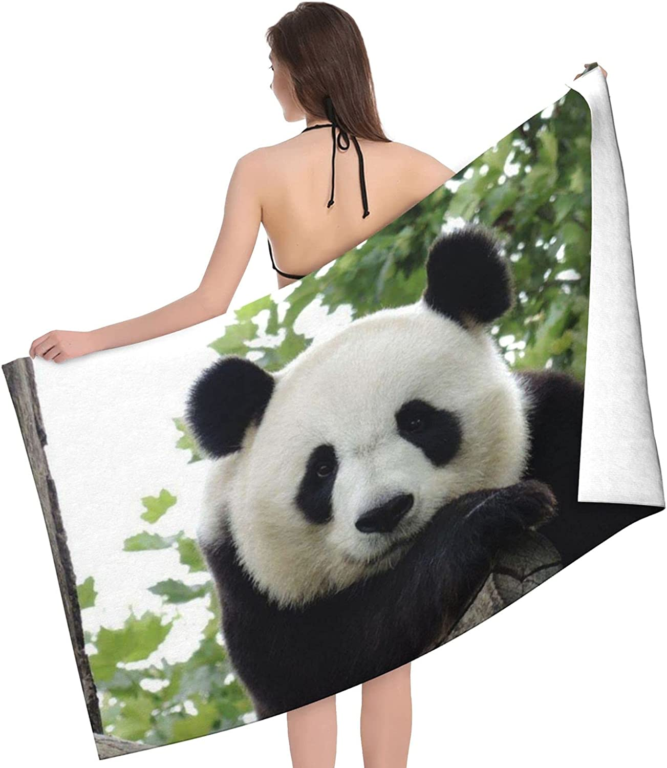 Lovely Max 71% OFF Atlanta Mall Panda Print Adult Beach - Towels Double Towel Sided