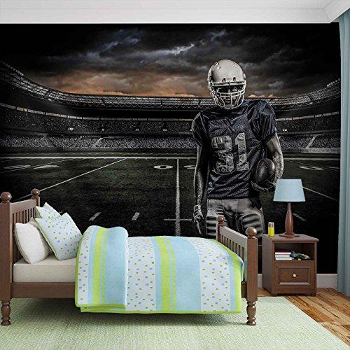 American Football Stadion - Forwall - Fototapete - Tapete - Fotomural - Mural Wandbild - (1115WM) - XXL - 368cm x 254cm - Papier (KEIN VLIES) - 4 Pieces