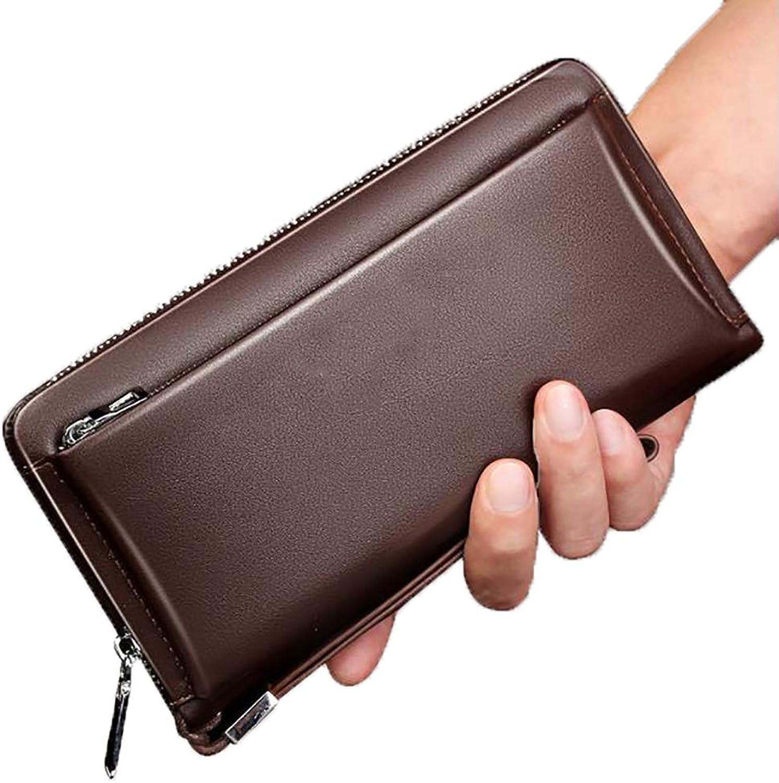 Designer Wallet for Men, RFID Blocking Luxury Classic Minimalist Predector,Brown