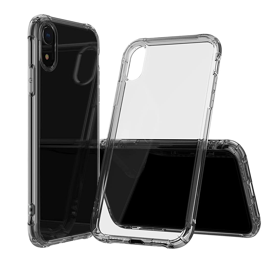 ANHONG iPhone XR Protective Case, [Voice Conversion Design][Slim Fit][Wireless Charger Compatible]Protective Soft TPU Shock-Absorption Bumper Case (iPhone Xr(Black) )