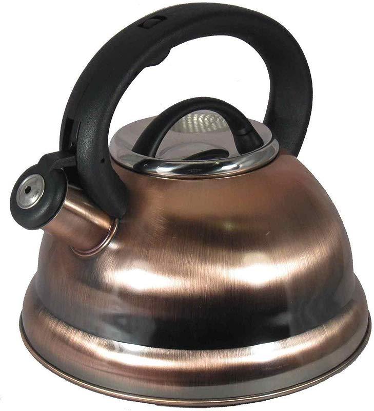 Alpine Cuisine TK3001C Stainless Steel Teakettle Tea Pot 2 8 Liters Copper