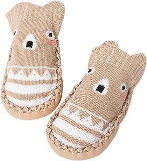 K-youth, Invierno Bebé Niñas Niños Indoor Zapatillas Piso Calcetines Patrón De Dibujos Animados Calcetines Zapatos Antideslizante Calcetines Botines