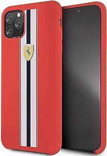 Ferrari On Track & Stripes Silicon Case - Red - iPhone 11 Pro Max