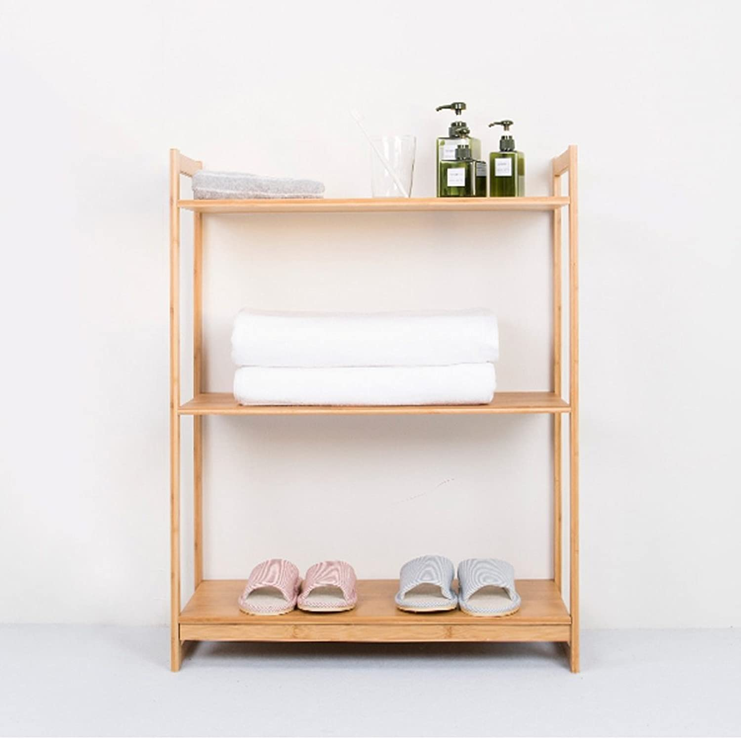 Living Room Bamboo Shelf Creative Kitchen Microwave Oven Frame Landing Bookshelf Storage Rack -by TIANTA (Size   40  30  88 cm)