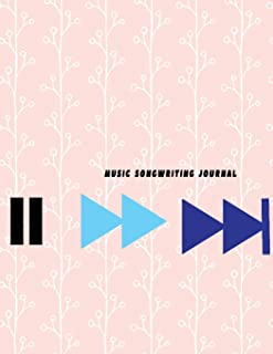 "Music Songwriting Journal: Blank Guitar Tablature Music Sheet Paper Song writers and Musicians Journal for Composing Book Size 8.5""x 11"" (100 pages)"