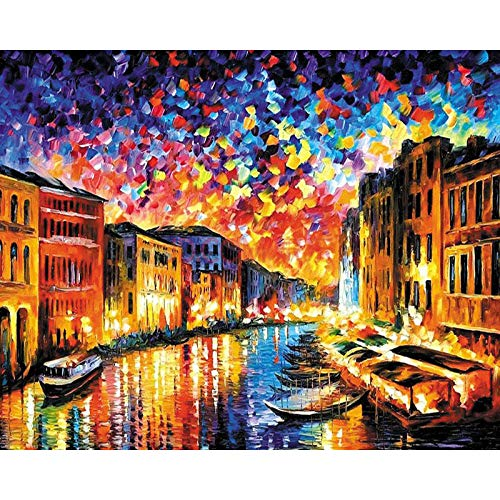 5D Diamond Painting Diamond Painting KitsDiamond Art for Adults and Kids Arts Craft Canvas for Home Wall Decor Lakeside 12x16 inches (Frameless)
