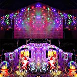 Toodour Icicle Christmas Lights, 432 LED 35.4ft 8 Modes Icicle String Lights with 72 Drops, Window Curtain Fairy Icicle Lights, Icicle Fairy Twinkle Lights for Christmas, Party, Holiday (Multicolor)