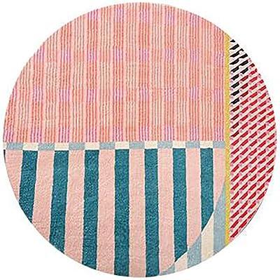 Exquisite Rug Round Area Rug Flannel Microfiber Non-Slip Geometric Graphics Floor Carpet for Living Room Nursery Kids Room Decor Floor Mat Area of Carpet Area