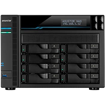 Asustor Lockerstor 8 | AS6508T | Enterprise Network Attached Storage | 2.1GHz Quad-Core, Two 10GbE Port, Two 2.5GbE Port, Two M.2 Slot for NVMe SSD Cache, 8GB RAM DDR4 (8 Bay Diskless NAS)