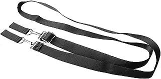 Yibuy Black Belt Backpack Shoulder Bag DIY Strap with Buckle with 38MM Width