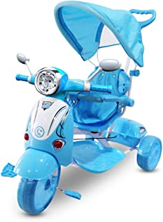 comprar comparacion MWS LT 854 Triciclo con Pedales para bebés con 3 Canciones integradas en Capota (Azul Oscuro)