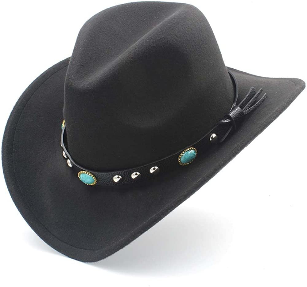 UIMNJHUKE LudyStore Womens Fashion Shipping included Western New arrival Roll Hat with Cowboy
