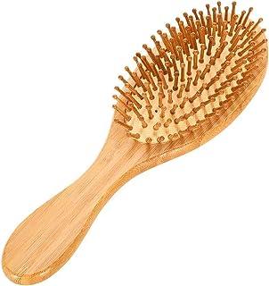 أدوات تصفيف الشعر رئيس الاسترخاء صغيرة مربعة خشبية تدليك مشط صالون الخشب الطبيعي فرشاة الشعر مشط