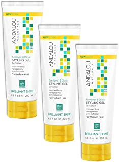 Andalou Naturals Sunflower & Citrus Brilliant Shine Styling Gel, 6.8 oz, Helps Give Hair Smooth Shine & De-Frizz Split End...