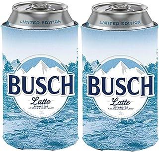 Busch Light Beer BUSCH LATTE Can Coolie Cooler - Limited Edition - 2 Pack